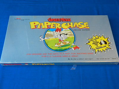 GINGER MEGGS Paper Chase Vintage BOARD GAME Deluxe Edition NEW