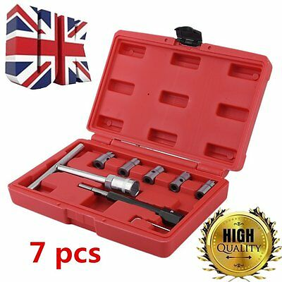 Professional 7pc Diesel Injector Seat Cutter Kit Set Universal Injector UK SE