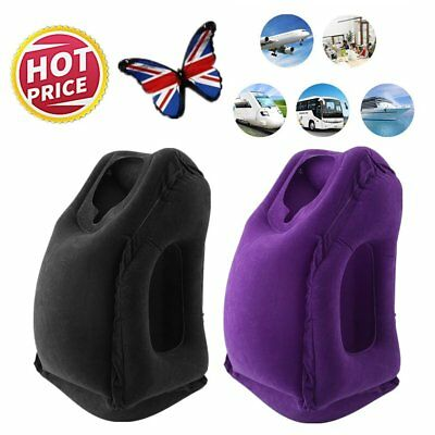Inflatable Air Cushion Travel Pillow Head Neck Sleep Support Camping Flight PY