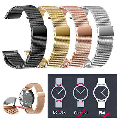 Milanese Magnetic Loop Stainless Steel Watch Strap Bands 22/20/18/16/14MM