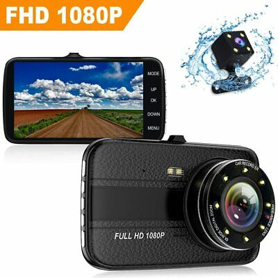 Dual Lens Car Camera DVR Dash Cam Video Recorder Night Vision G-sensor Full HD
