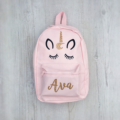 Personalised Unicorn Mini Toddler Kids Childs Back Pack Girls Back To School Bag