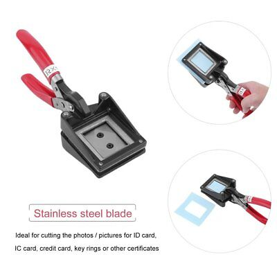 35 x 45mm Passport ID Photo Stainless Steel Blade Square Cutter Picture Punch SE