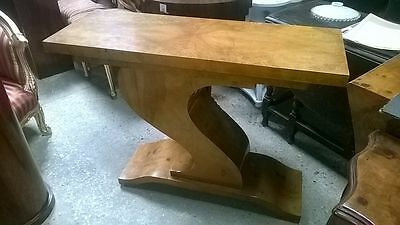 Antique Art Deco Style Console Hall Table In Walnut - Home Furniture