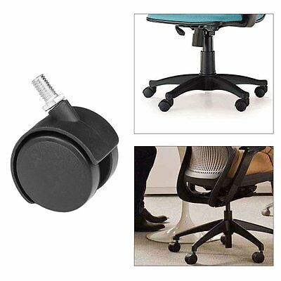 "5x Office Home Chair Caster Wheel Swivel Rubber Wooden Floor Protection 1.5"" PY"