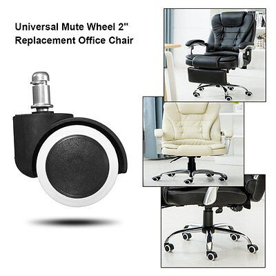 "5x Office Home Chair Caster Wheel Swivel Rubber Wooden Floor Protection 2"" PY"