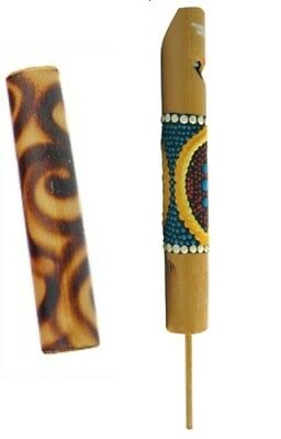 Bird Whistle & Duck Quacker Bamboo Instruments Receive Both For £4.75