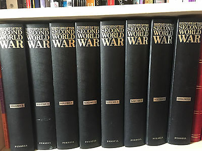 Purnell's History of the Second World War, Full Set of 8 Volumes