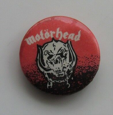 MOTORHEAD  VINTAGE METAL BUTTON BADGE FROM THE 1970's BOMBER OVERKILL LEMMY