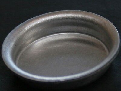 Metal Shallow Bowl, Dolls House Miniature, Kitchen Utensil or Pets Water Bowl