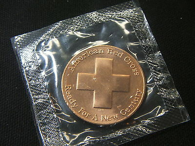 """US Mint~~AMERICAN RED CROSS~~1 7/16"""" BRONZE MEDAL~~IN MINT CELLO"""
