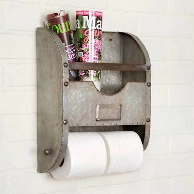 Vintage Style Wall  Mounted Toilet Paper Holder Bathroom Caddy Toilet tissue