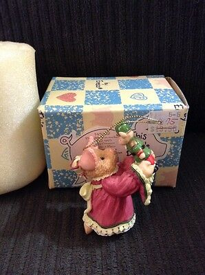 This Little Piggy 1995 DATED ORNAMENT #145882 ENESCO MIB