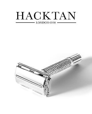 Hacktan Double Edge Safety Razor Butterfly Twist Open Fits All DE Razor Blades