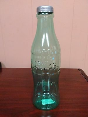 """NEW Coca-Cola 12"""" Tall Coke Bottle Clear Plastic Coin Money Bank Collectable"""