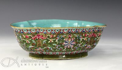 Antique Chinese Enameled Porcelain Bowl With Daoguang Mark