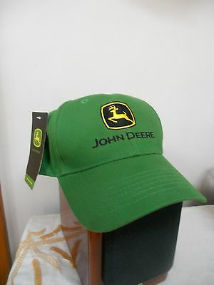 (new w/ tag)  JOHN DEERE HAT, VELCRO ADJUSTING BACK, SOUTH SHORE TRACTOR PROMO