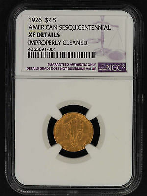 1926 $2.5 Sesquicentennial Gold Commemorative NGC XF Details Imp Cleaned -156837