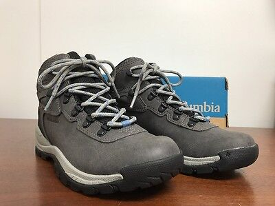 COLUMBIA Newton Ridge Plus Women's Waterproof Hiking Boot Sz 7 Quarry/Cool Wave