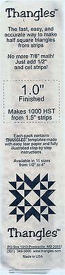 "Thangles Half Square Triangles Easy Tear Paper Templates makes 1000 1"" finished"