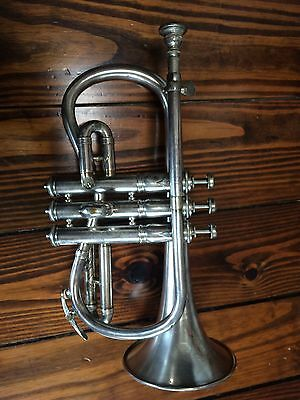 1902 Antique C.G. Conn Rare Model Cornet Elkhart-IND Mother of Pearl