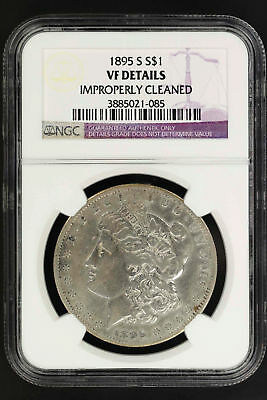 1895-S Morgan Silver Dollar NGC VF Details Improperly Cleaned -135619