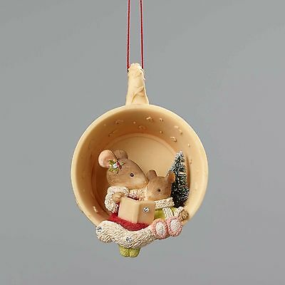 4052792 Heart of Christmas  Mice in a Teacup Ornament NIB