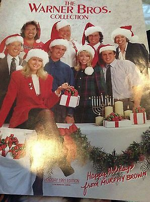 Warmer bros. Store catalog, Murphy Brown on cover-Holiday, 1991 edition