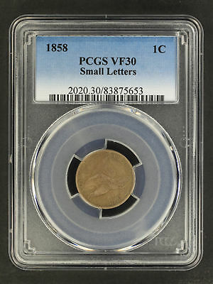 1858 Small Letters Flying Eagle Cent PCGS VF-30 -160871