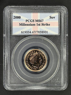 2000 Great Britain Millennium 1st Strike Sovereign PCGS MS-67 -161237