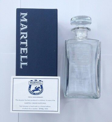Limited Edition Martell Grand National Glass Decanter Perfect Boxed