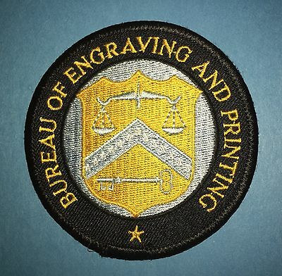 Rare BUREAU OF ENGRAVING AND PRINTING Collectable Uniform Jacket Patch Crest