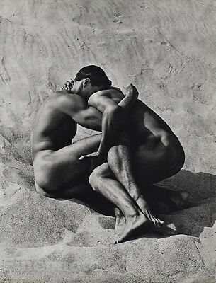 1986 Vintage MALE NUDE Men Beach Sand Body Physique Photo Art ~ HERB RITTS 16x20