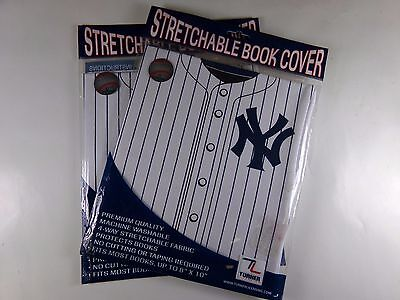 Set of 2 New York Yankees Stretchable Book Cover Brand New Sealed MLB 8190019