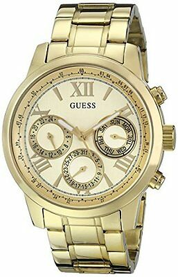 GUESS Women's U0330L1 Sporty Gold-Tone Stainless Steel Watch with