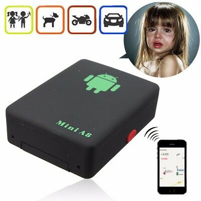 Mini Locator Track Real Time Kids Pet Car Tracker GPS GSM GPRS Tracking AU