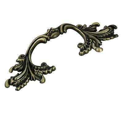 Antique Brass Antique English Leafy French Furniture dresser Drawer Pull