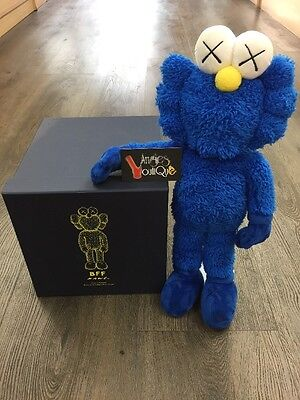 KAWS BFF Blue Plush Toy 100% Authentic 2016 All Rights Reserved Original