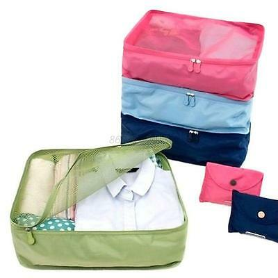 Travel Waterproof Clothes Storage Bags Luggage Organizer Pouch Packing Cube Bag