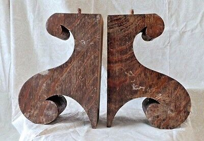 Antique Wood Corbels Brackets Vintage Salvage Farmhouse Country Chic Decor 10x7
