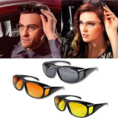 HD Night Vision Men/Women Driving Sunglasses Over Wrap Around Anti-UV Glasses