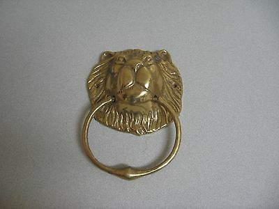 Lion Head Face Brass Door Knocker