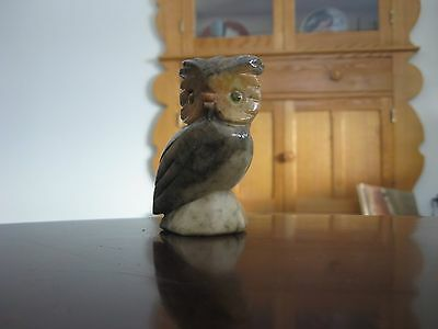 Owl Italy Alabaster Hand Carved Italian