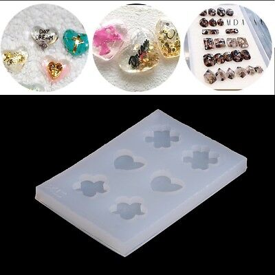 Silicone Faceted Beads Earring Mold Jewellery Making Mould Resin Craft DIY Tools