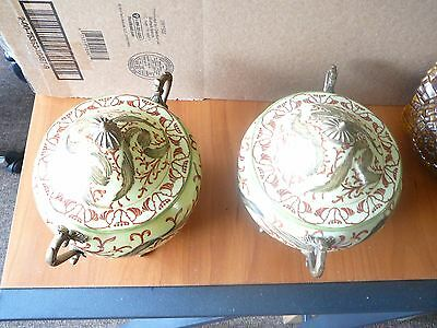 A pair Antique Chinese Pattern Lidded Porcelain Pot, marked