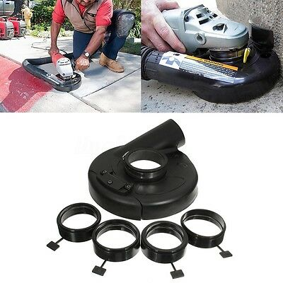 180mm Black Vacuum Dust Shroud Cover for Angle Grinder Hand Grind Convertible