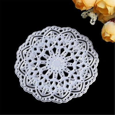 8cm Flower Doily Metal Cutting Dies Stencils Embossing Tool for DIY Scrapbooking