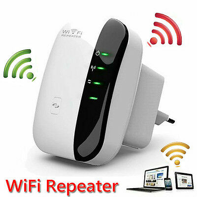EU Wireless-N Mini Wifi Repeater Network 300Mbps Range Extender Booster Routers