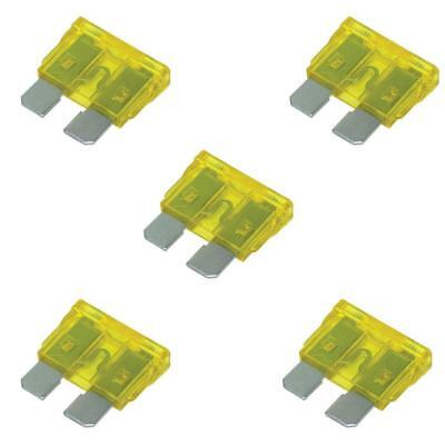 NEW! THUNDER 5x Standard Blade Fuse 20A Yellow TDR05005
