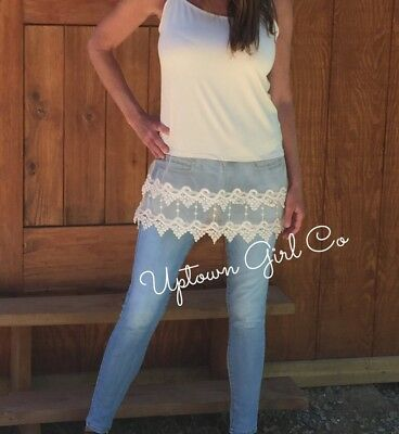 Lace Cami 2XL Tank Shirt Extenders, Womens Lace Shirt Extender, Top Extender